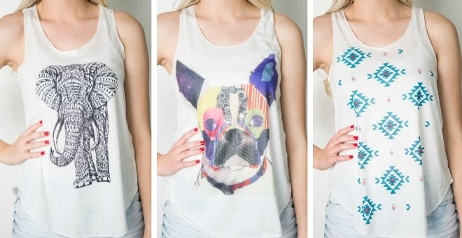 *HOT* Graphic Print Tanks in 1...