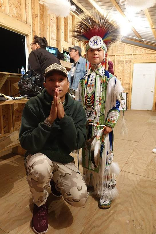 Pharrell Wililams calls attention to the children of Standing Rock's heroic efforts