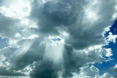 Heaven's opening sky image