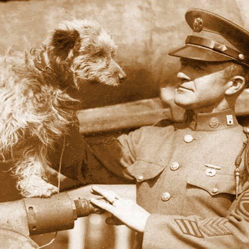 Rags and 1st Sgt. George Earl Hickman