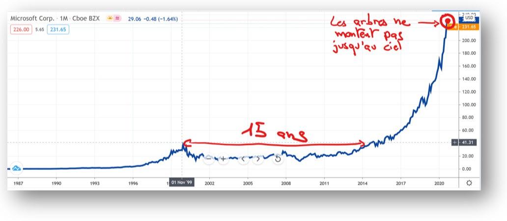 Il a fallu 15 ans à Microsoft pour se remettre de la crise de 2001
