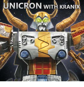 LIMITED EDITION UNICRON AND KRANIX