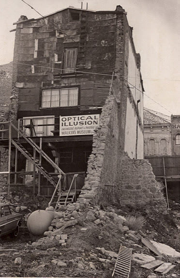 The Black & Howell building at Virginia City, in waning days