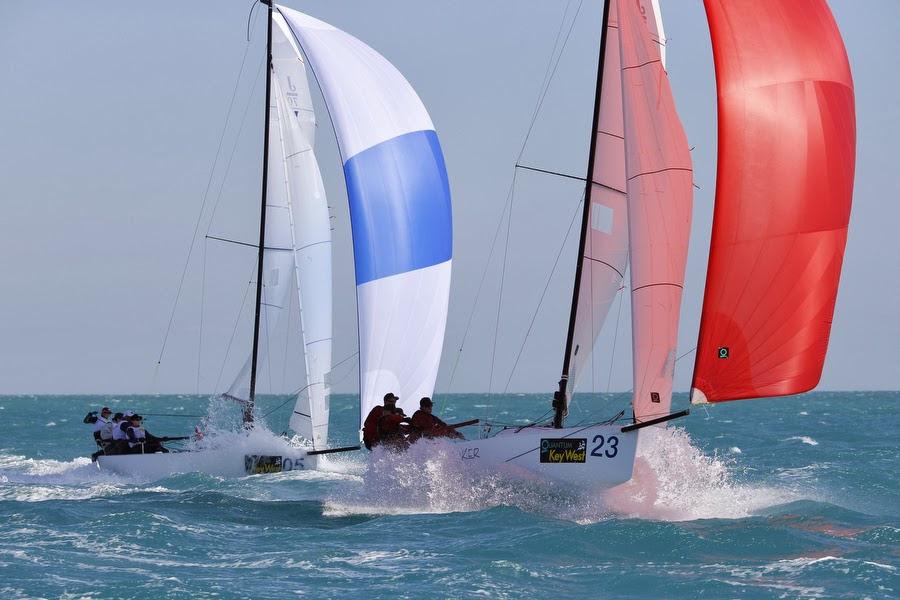J/70s sailing Quantum Key West Race Week