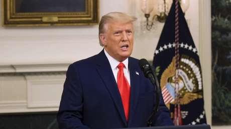 """Trump pronuncia su """"discurso más importante"""" y promete """"proteger"""" el sistema electoral de EE.UU., """"que ahora está bajo asalto y asedio coordinados"""""""