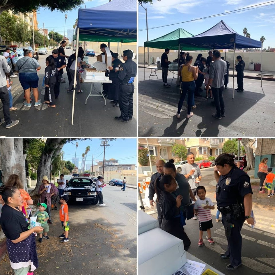 Pop Up Resource Fair LAPD 10th St
