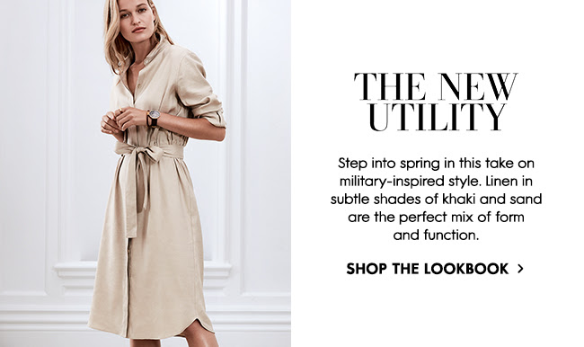 Step into spring in this take on military-inpsired style