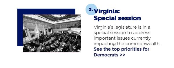 3. Virginia: Special session