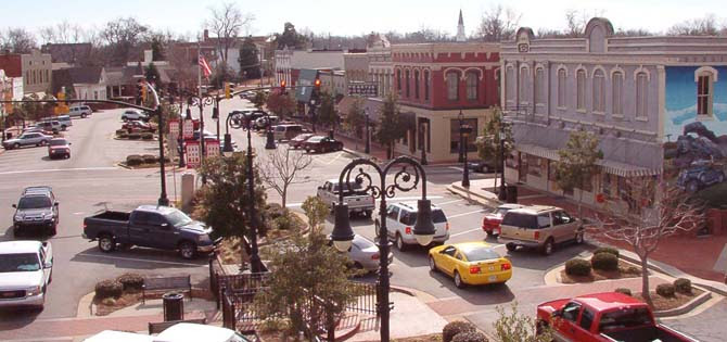 Downtown City of Barnesville GA