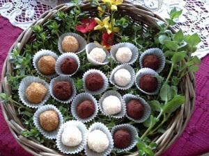 golyók édesség