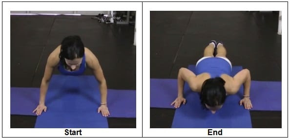 T1 RIGHT WAY to do a Bodyweight Push Up (Front View)