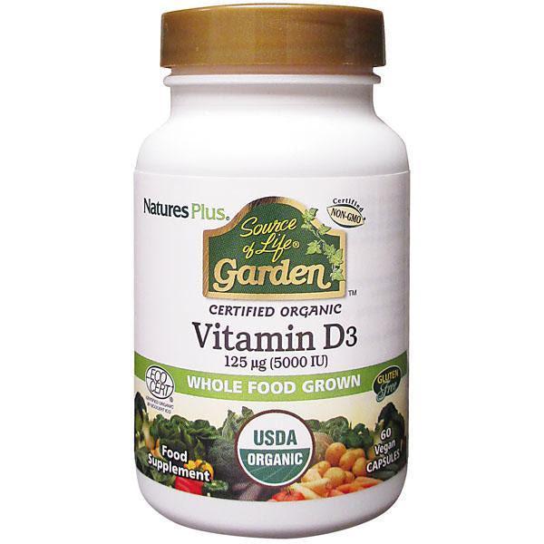 Natures Plus Source of Life Garden Vitamin D3 5000IU