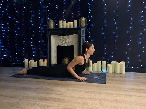 posture de yoga - cobra