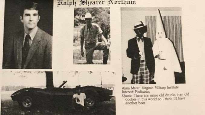 Northam College Photograph Shows Man in Same Plaid Pants as Blackface-KKK Yearbook Photo