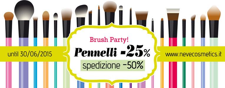 Brush Party Neve Cosmetics...tutti i pennelli -25%, spedizioni -50%!