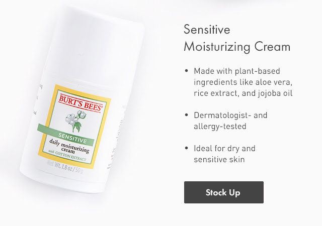 Sensitive Moisturizing Cream. Stock Up.