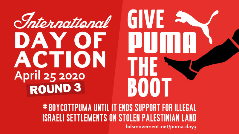 Join 3rd Global Boycott Puma Day of Action, April 25, 2020