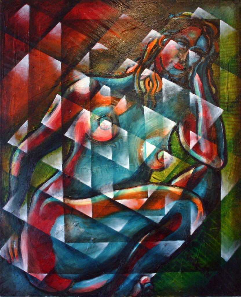 Sitting Woman Fixed in Motion Too  Oil on Canvas  30X24   2 300