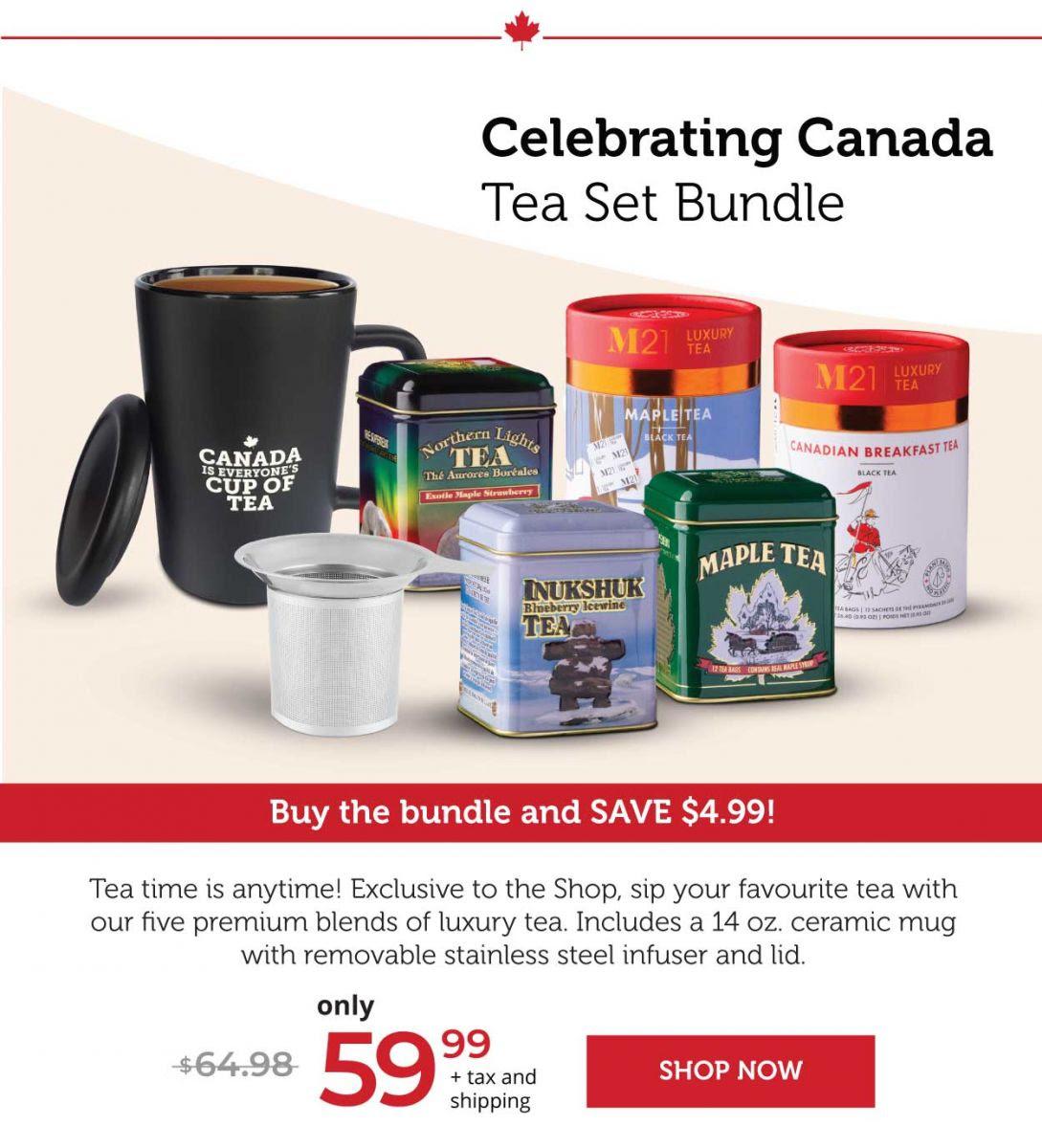Celebrating Canada 5-Tea Set Bundle