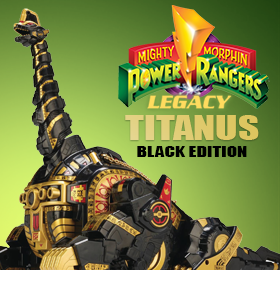 MIGHTY MORPHIN POWER RANGERS TITANUS BLACK EDITION
