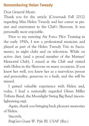 Remembering Helen Tweedy