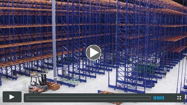 Timelapse Rack Installation in a Cold Storage Facility