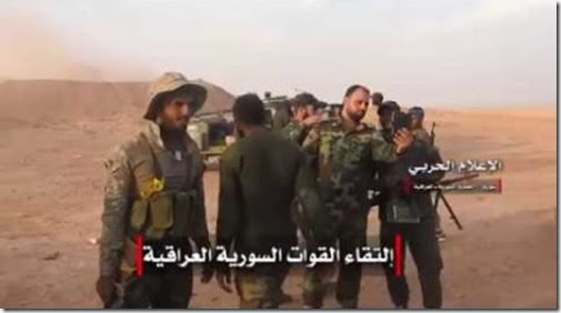 Al Bukamal - Syrische en Iraakse troepen - 8 november 2017