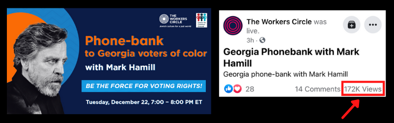 Mark Hamill who played Luke Skywalker in Starwars fights for voting rights in Georgia.