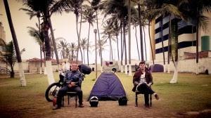 A foto no camping Santa Rita, na praia de Cruz das Almas, Maceió, Alagoas.
