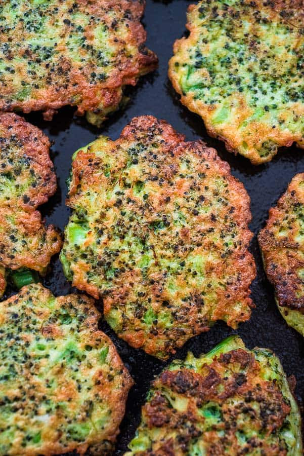 Image result for broccoli fritter]