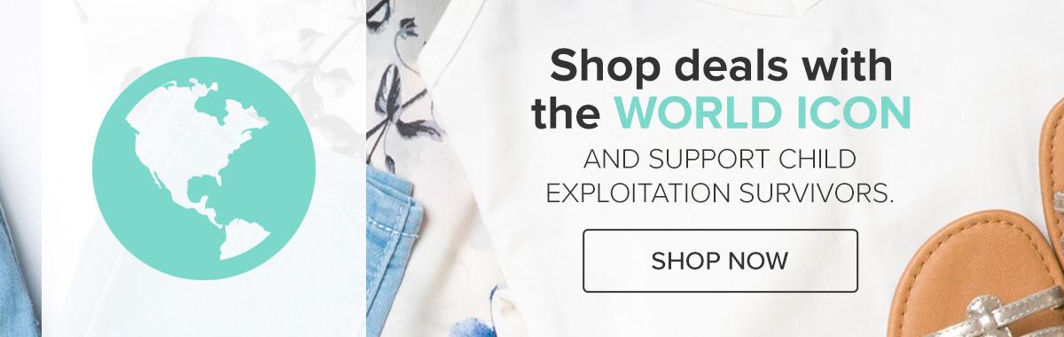 #StrongLikeYou - Shop deals that benefit survivors of child exploitation