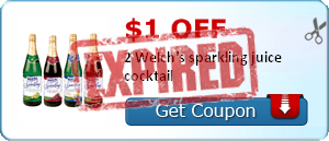 $1.00 off 2 Welch's sparkling juice cocktail