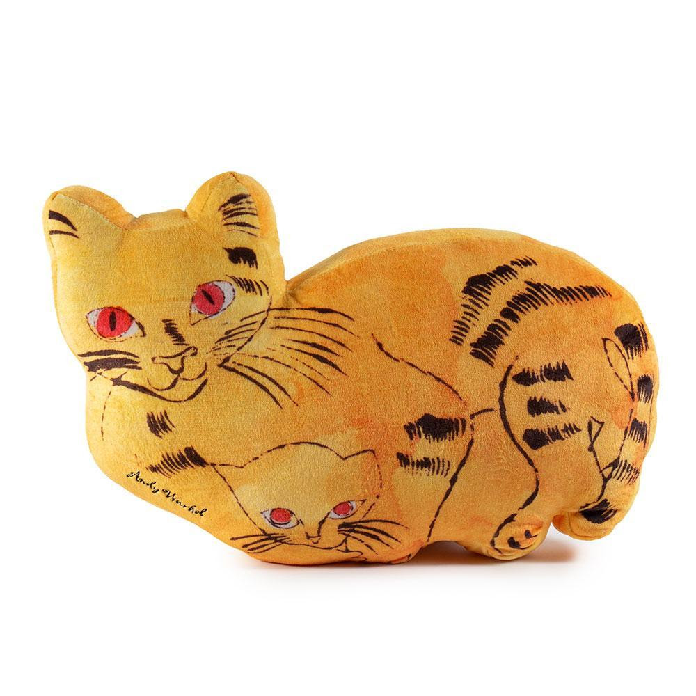 Andy Warhol Yellow Sam the Cat Plush by Kidrobot