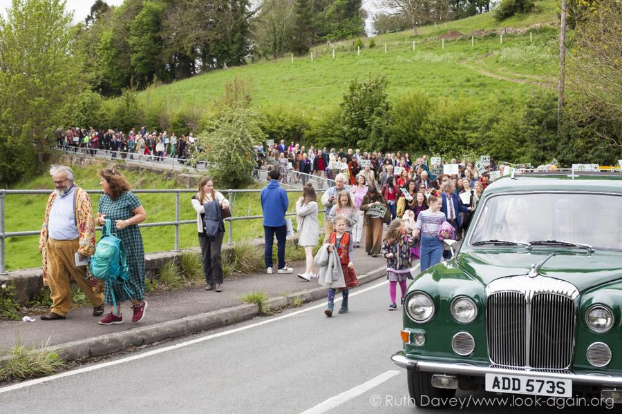 Procession along Slad Valley