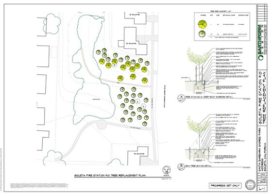 Fire Station 10  Tree Replacement Planting Plan