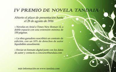 IV Premio de Novela Tandaia