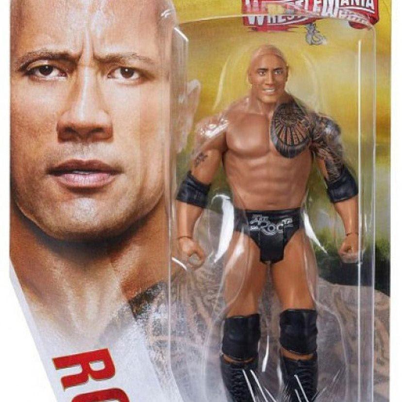 Image of WWE Wrestlemania Basic Action Figure Series - The Rock (Wrestlemania 32)