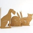 Domestic Animals lasercut cards - Set of 3