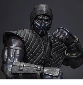 MORTAL KOMBAT VS SERIES NOOB SAIBOT 1/12 SCALE FIGURE 2017 SDCC EXCLUSIVE