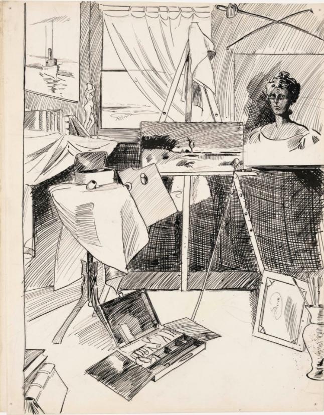 Edward Hopper, (Artist's Studio), c. 1900.