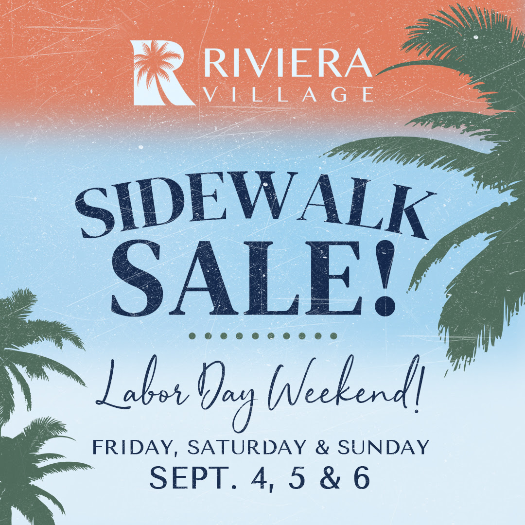 Riviera Village Sidewalk Sale September 4-6, 2020