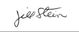 Jill Stein signature