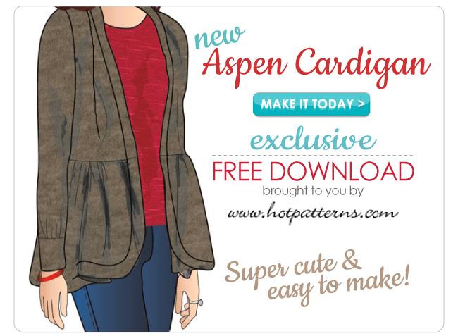 Aspen Cardigan FREE Pattern Download