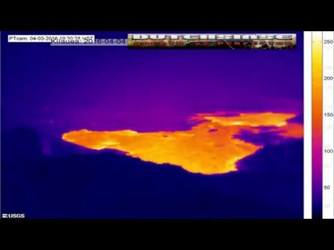4/05/2016 -- New large lava flow in Hawaii atop Kilauea's Pu'u O'o Volcanic Caldera  Hqdefault