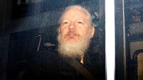 Assange luego de ser arrestado por la policía británica, en Londres, 11 de abril de 2019.