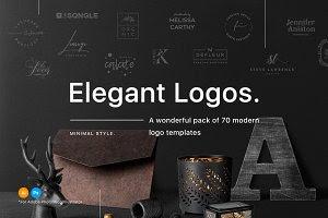 70 Elegant Logos (Extended License)