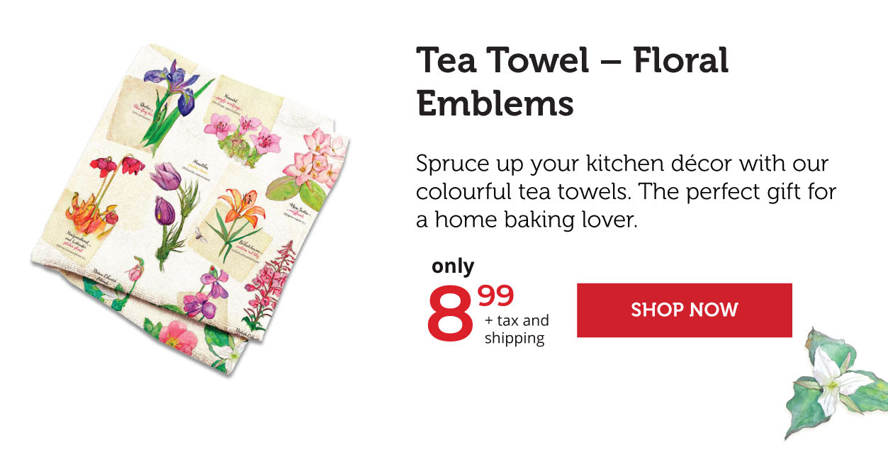Tea Towel - Floral Emblems
