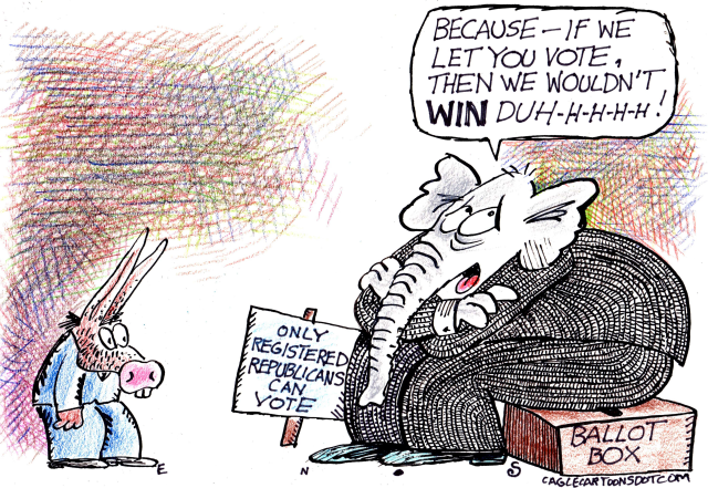 GOP resorts to voter suppression to cling to power.