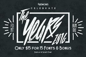 The Years 2016 - Font Bundle