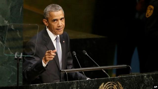 Tổng thống Obama đọc diễn văn trước Đại hội đồng Liên hiệp quốc, ngày 28/9/2015.